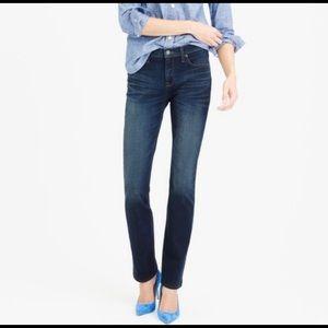 J. CREW Matchstick Dark Wash Whiskered Jeans 27